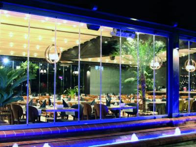 outdoor canopy bar restaurant