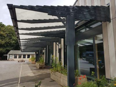 Canopies UK Canopy Installation at Woodgrange Infants School