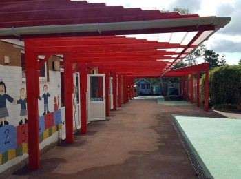 St Edmunds Catholic Primary School Canopy by Canopies UK