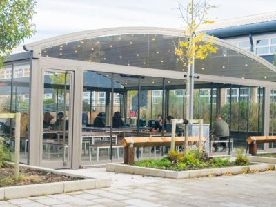 Winstanley College Outdoor Canopy Dining Area For Pupils