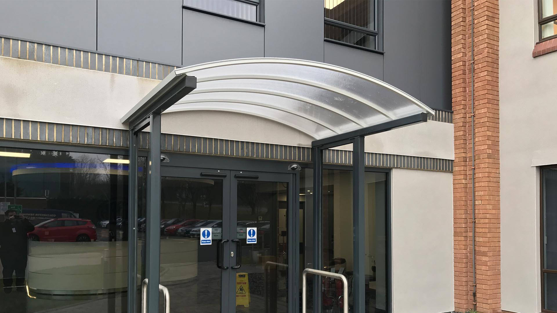 Commercial Entrance Canopy Systems Canopies Uk