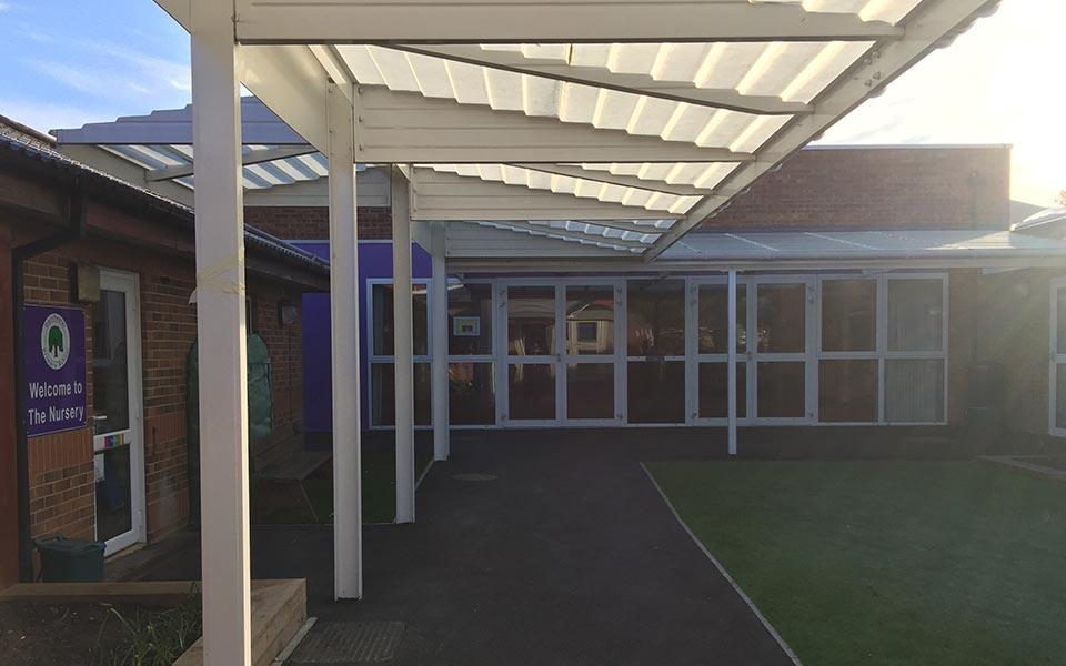 covered walkways for schools