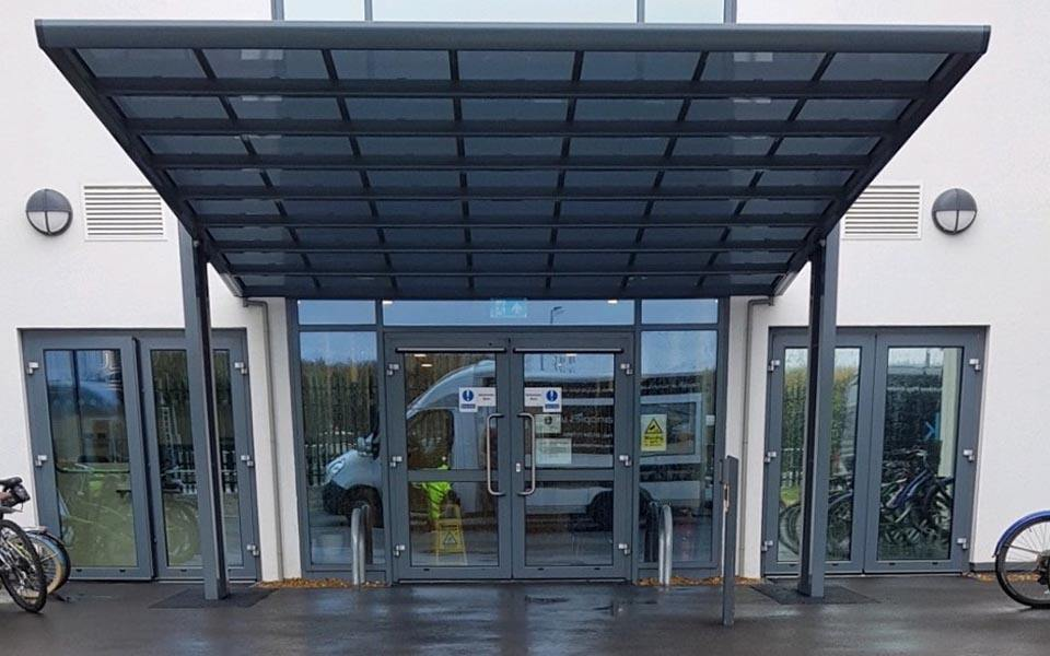 entrance canopies commercial