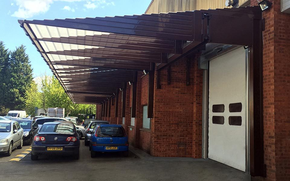 loading bay canopies