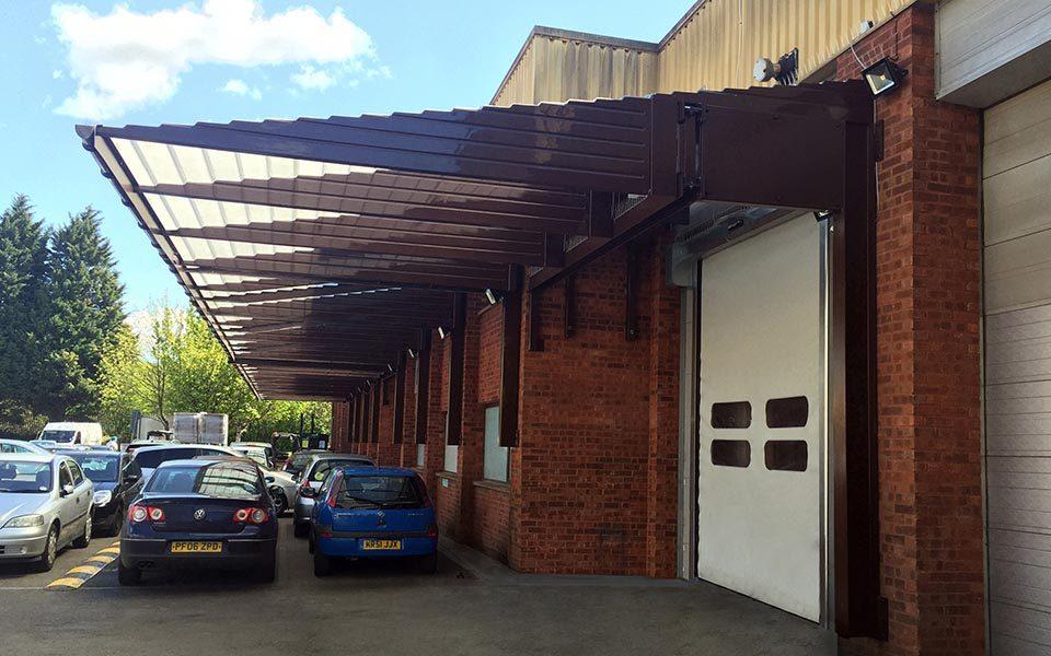 warehouse canopies