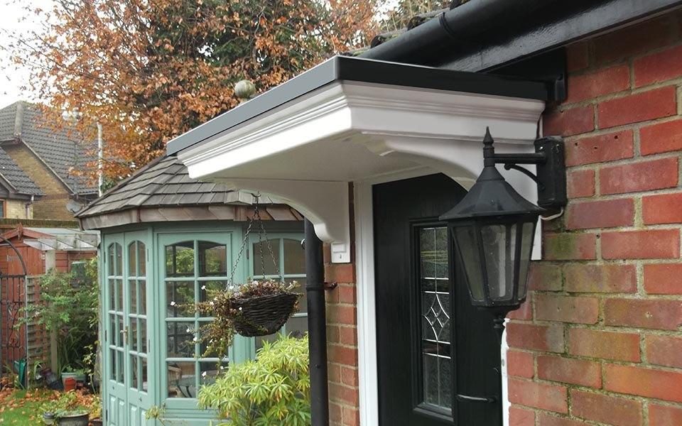 flat door canopy