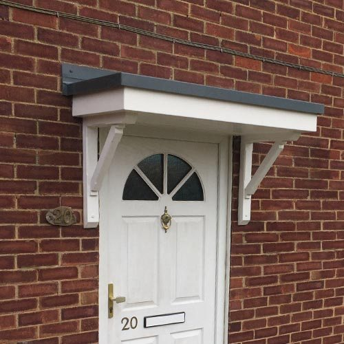 flat roof door canopy